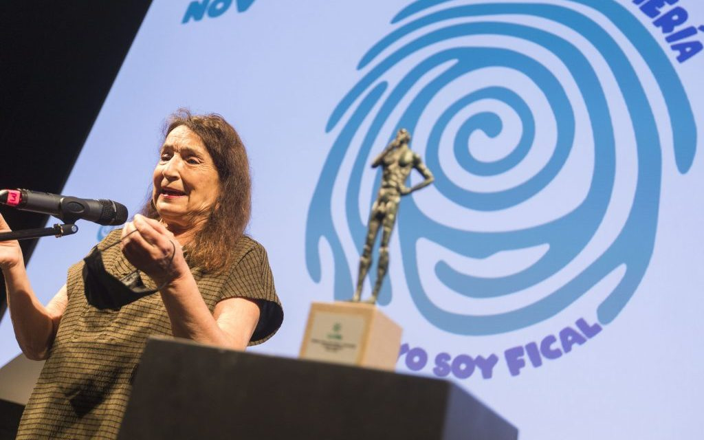 La actriz linarense Petra Martínez, premiada en el Festival Internacional de Cine de Almería